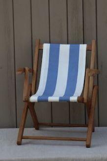 Chaise pliante d'enfant, pour la plage ou le jardin