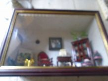 Vitrine / tableau salon Napoléon III