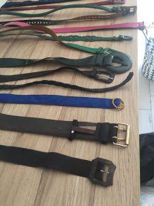 lot de ceintures vintage