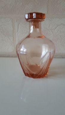 carafe rose ambree  en verre