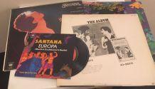 Santana lot vinyles : deux 33 t + 1 maxi 45 t + un 45 t