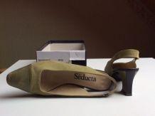 Sandales à talons style Chanel