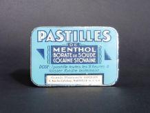 Pastilles Menthol Borate Cocaïne / Collection de Boites