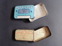 Pastilles Menthol Borate Cocaïne / Collection de Boites