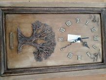 Horloge neuve pendule peinte main d'origine