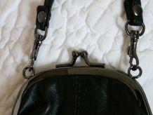 Mini sac  pochette cuir noir