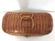 Malette en bambou vintage