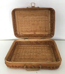 Valisette en bambou vintage
