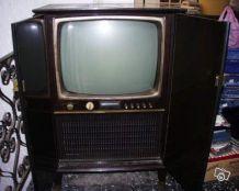 vieille télévision Philips à ampoules