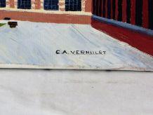 Huile sur Toile signée Verhulst