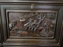 Meuble a sculpture asiatique chinoise