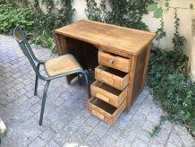 Bureau enfant vintage des années 40/50 en chêne