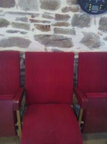 Ancien fauteuil de cinéma