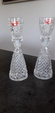 2 flacons  en cristal de bohème