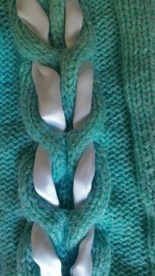 Gilet coton et ruban