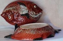 poisson céramique vintage