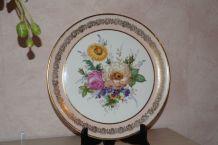 plat porcelaine vintage