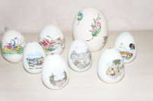 lot oeufs porcelaine