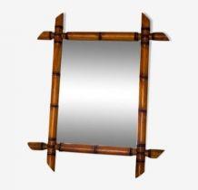 Miroir façon bambou années 30/40 38X45cm