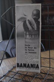 Publicité BANANIA 1931