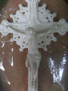 Ancien christ  sous verre cadre Napoléon III