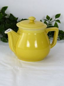 Théière jaune citron