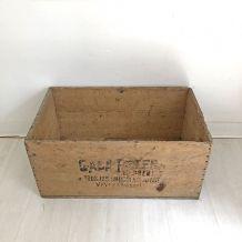 Caisse en bois des Chocolats Gala Peter vintage 50's