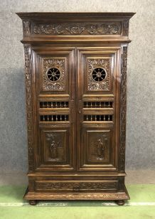 Petite armoire de chambre bretonne - début XXème