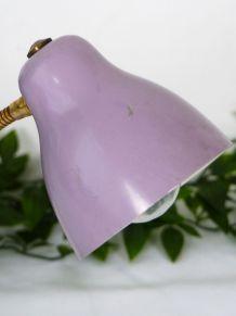 Lampe de bureau vintage violette