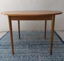 Table à manger ronde scandinave teck années 60