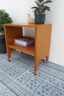 Table d'appoint scandinave vintage teck années 70