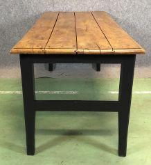 Table de ferme en orme - XIXème