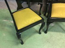 Suite de 6 chaises Chippendale des années 60 en acajou