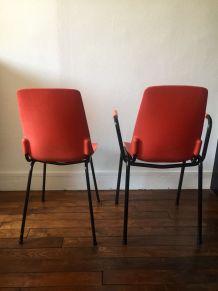 Duo de chaise et fauteuil vintage des années 50