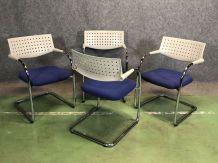 Suite de 4 fauteuils - années 80