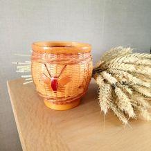 Petit cache pot en osier