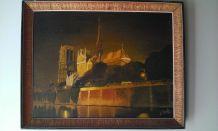 Notre-Dame de Paris de nuit signé RONDA