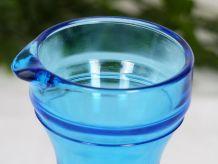 Broc à eau pichet en verre bleu