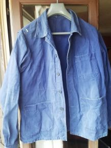 veste bleu de travail vulgain 1950s