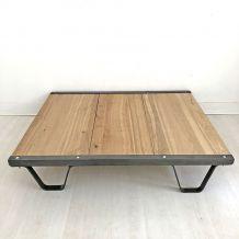 Table basse Industrielle vintage 50's