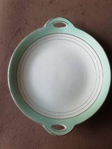 plat porcelaine Luneville france Andorre
