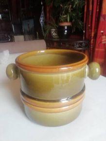 pot céramique vert dégradé marron