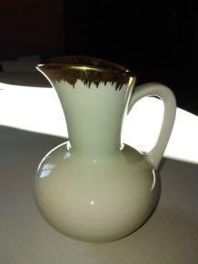 pot à lait crème porcelaine liseret d'or