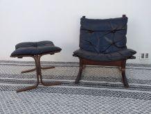 Fauteuil et ottoman Siesta Relling scandinave