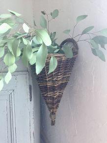 Panière osier, décoration bohème (petit modèle)