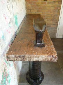 CONSOLE - TABLE - ETABLI - INDUSTRIEL - ENCLUME BIGORNE