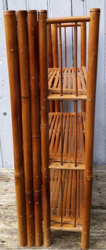 étagères pliantes en bambou