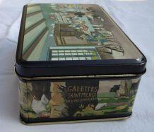 Boîte en tôle, des galettes Saint Michel