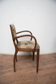 Paire de fauteuils bridge chêne massif - restaurés