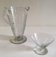 Service de verres style Art Déco – années 50